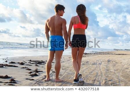 Full length of a shirtless muscular man Stock photo © wavebreak_media