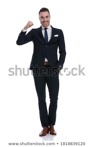 Mosolyog elegáns üzletember kezek üzlet öltöny Stock fotó © wavebreak_media