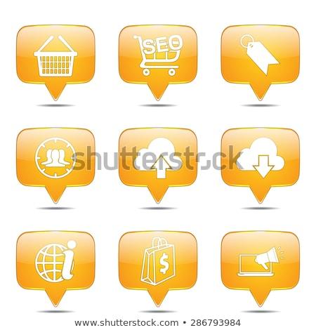Stockfoto: Seo · internet · teken · vierkante · vector · Geel