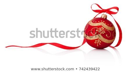 Christmas zabawki girlanda jasne szkła tle Zdjęcia stock © Mikko