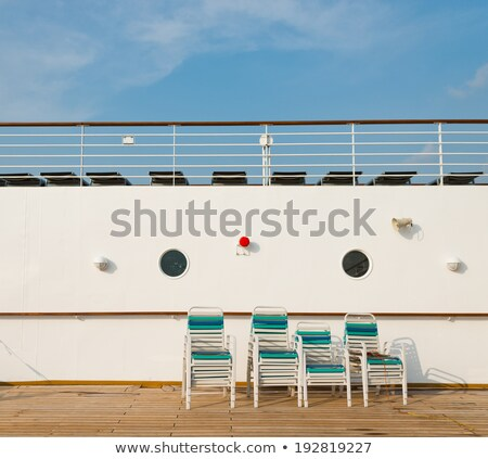 Banhos de sol convés navio de cruzeiro água casal Foto stock © smuki