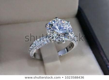 Diamant bague de fiançailles mariage beauté art mariée Photo stock © leonardo