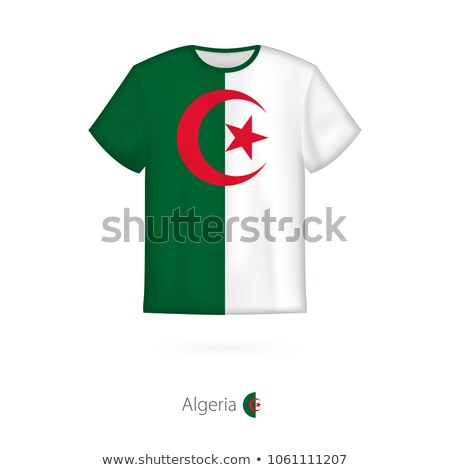 Алжир флаг рубашку деловой человек человека Сток-фото © fuzzbones0