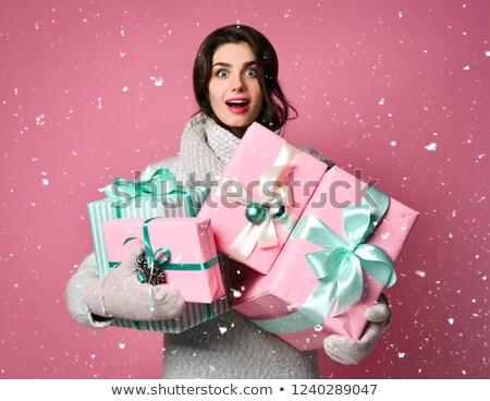Sueños caro Navidad regalo arte pop estilo retro Foto stock © studiostoks