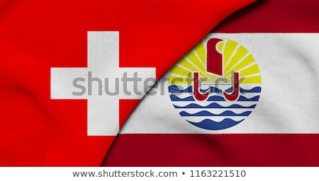 Switzerland and French Polynesia Flags Stock photo © Istanbul2009