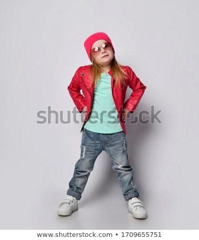 Hiphop lány ujjak széles divat szépség Stock fotó © Paha_L