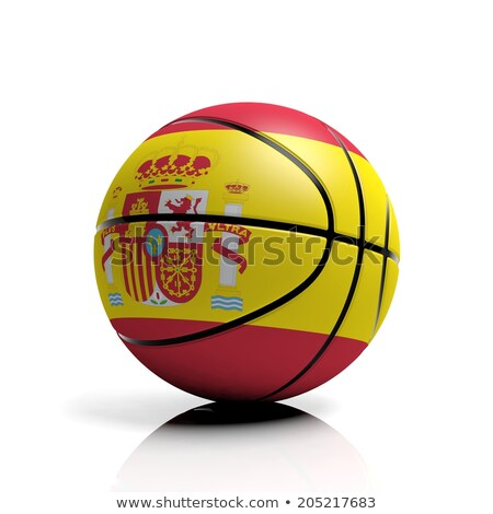 Spanyolország kosárlabda zászló 3d render tér kép Stock fotó © Koufax73