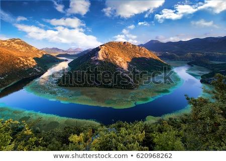 Сток-фото: озеро · парка · Черногория · Албания · границе