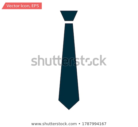 necktie icon Illustration sign design Stock photo © kiddaikiddee