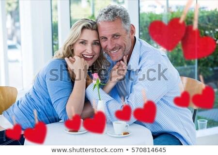 Composite image of hearts hanging on a line Stock photo © wavebreak_media