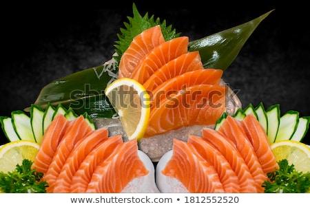 fraîches · sashimi · décoré · chaux - photo stock © dmitroza
