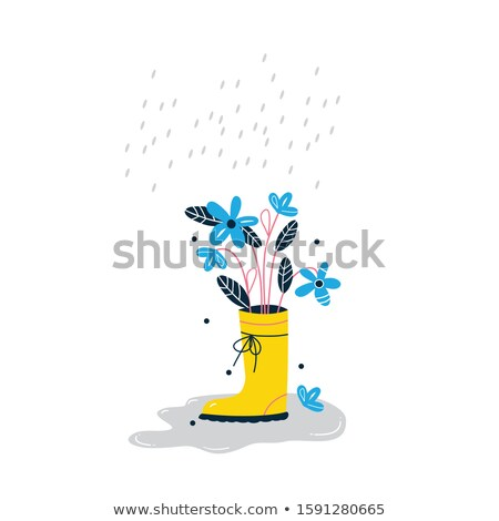 A plant in a pot with blooming flowers Stock photo © bluering