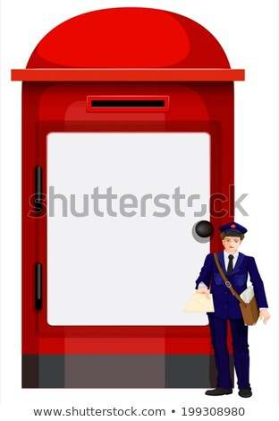 A mailman beside the big mailbox Stock photo © bluering