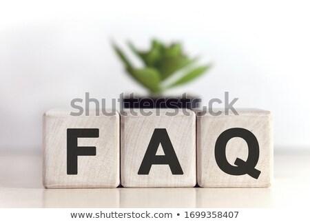 よくある質問 文字 木製のテーブル 木材 学校 背景 ストックフォト © fuzzbones0