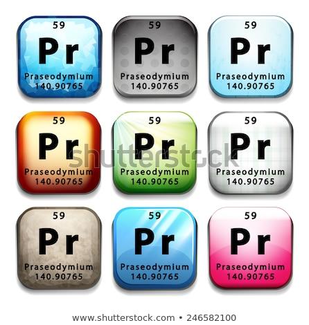 A button showing the element Praseodymium Stock photo © bluering