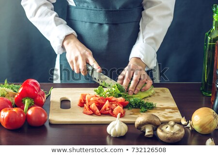 Knife on the chopping board Stock photo © broker