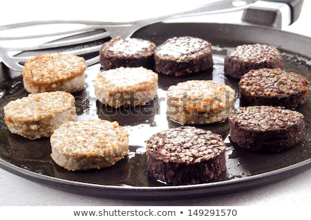 black pudding, white pudding and sausage Stock photo © grafvision