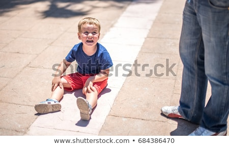 capricious boy sitting Stock photo © sapegina