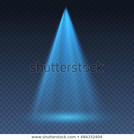 Parlak parlak mavi lazer soyut Stok fotoğraf © saicle