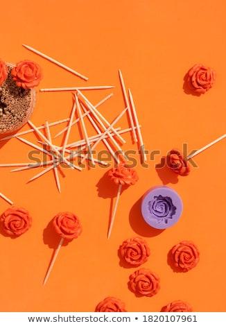 Arancione bacchette modello di fiore coppia floreale pattern Foto d'archivio © Digifoodstock