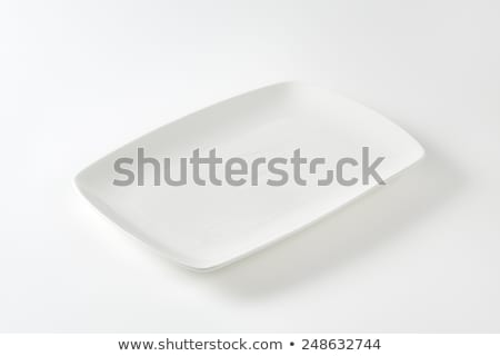 Rectangle white porcelain plate Stock photo © Digifoodstock