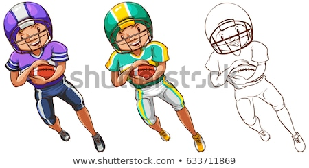 Drafting character for american football player Stock photo © bluering