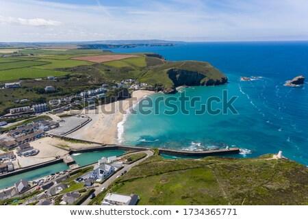 пляж деревне западной холме Корнуолл Англии Сток-фото © latent