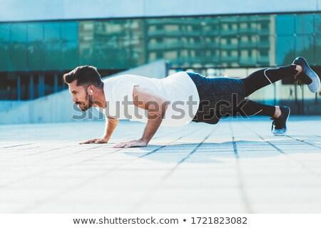 Determinado esportes jogador branco Foto stock © wavebreak_media