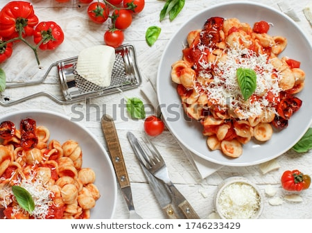 Stockfoto: Smakelijk · pasta · creatieve · stilleven · vork · lepel