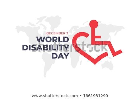 декабрь международных день инвалидов календаря Сток-фото © Olena