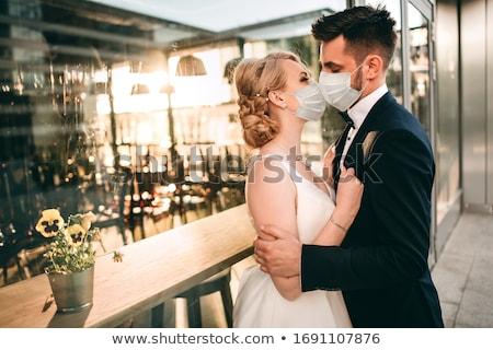 boldog · újonnan · házaspár · otthon · kanapé · férfi - stock fotó © lightpoet