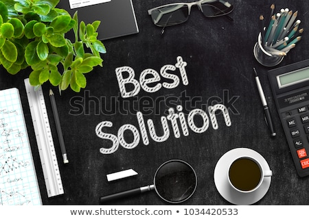 Effective Strategies on Black Chalkboard. 3D Rendering. Stock photo © tashatuvango