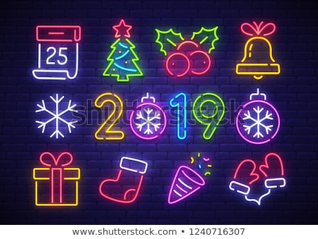 Christmas Colorful Neon Icons Stock photo © Voysla