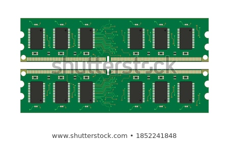 RAM module in 3D, vector illustration. stock photo © kup1984