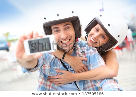 couple taking picture of themselves Stock photo © IS2