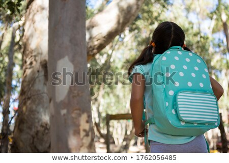 девочку Постоянный рюкзак небе Сток-фото © wavebreak_media