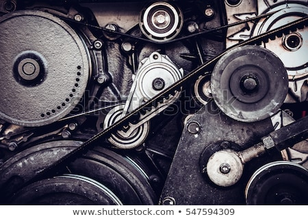 couple with car fixing engine stock photo © is2