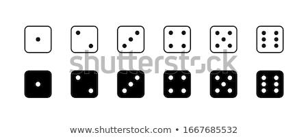 kocka · kettő · asztal · szelektív · fókusz · háttér · csoport - stock fotó © anatolym