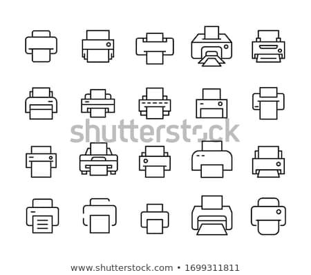 Printer icon witte illustratie kantoor teken Stockfoto © nickylarson974