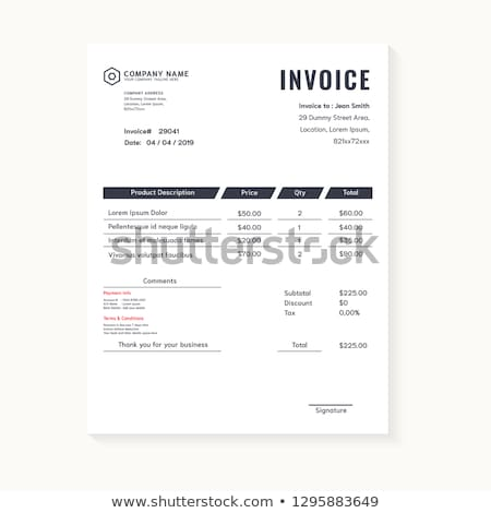 dark business invoice vector template stock photo © sarts