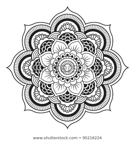 Kör szimmetrikus terv virág dísz absztrakt Stock fotó © ESSL