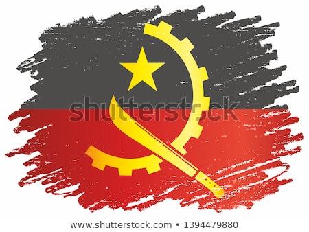 Angola zászló fehér terv világ felirat Stock fotó © butenkow