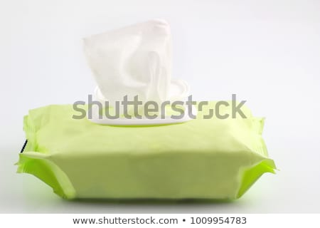 Hand picked a wet wipes in package box, Wet wipes in a woman's h Stock photo © adamr