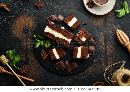 Kek krem lezzetli çikolata parçalar Stok fotoğraf © thisboy