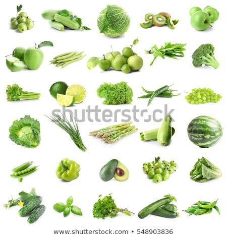 collage with assorted green vegetables stock photo © melnyk