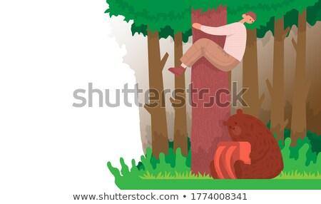 Cartoon Bear Panicking Stock photo © cthoman