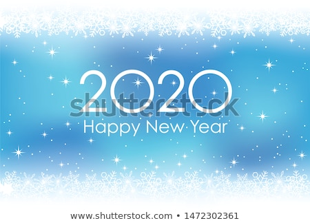 2020 new year blue background pattern of snowflakes Stock photo © orensila