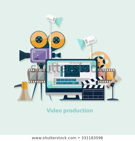 Stockfoto: Computers And Production Vector Illustration