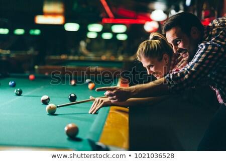adam · oynama · havuz · çekim · oyun - stok fotoğraf © kzenon