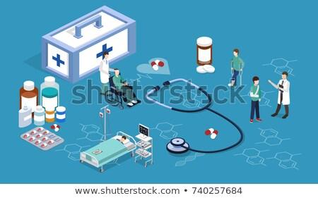 Pharmacy and Medication Items Vector Illustration Stock photo © robuart